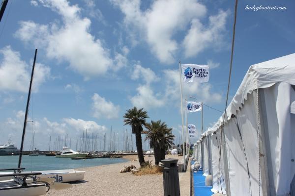 The port's beach