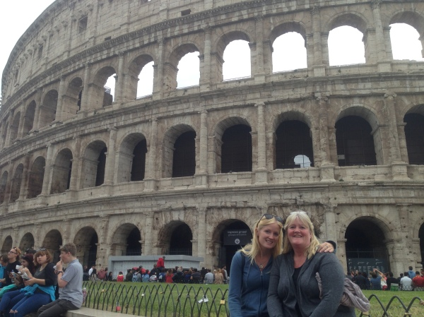Mum and her mum in front of the Colleseum a few months ago!